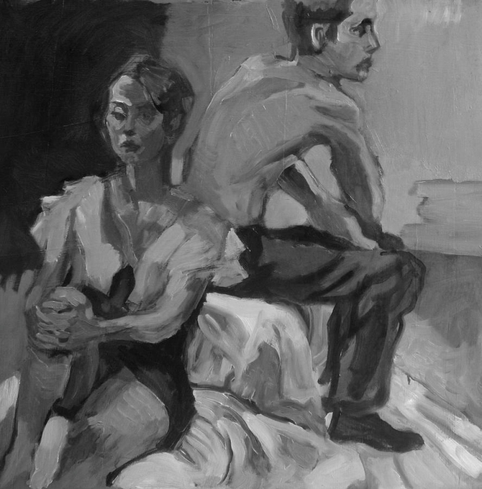 the-conversation-piotr-antonow b&w